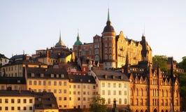 Estocolmo en la puesta del sol. Imágenes de archivo libres de regalías
