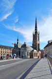 Estocolmo, iglesia del caballero Imagenes de archivo