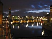 Estocolmo Nightlites Fotografía de archivo