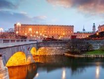 Estocolmo - palacio real y Riksdag, Suecia foto de archivo libre de regalías