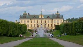 ESTOCOLMO - SUECIA, AGOSTO DE 2015: palacio del drottningholm, timelapse almacen de metraje de vídeo