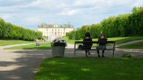 ESTOCOLMO - SUECIA, AGOSTO DE 2015: palacio del drottningholm, timelapse almacen de video