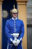 ESTOCOLMO, SUECIA - 20 DE AGOSTO DE 2016: Guardias reales suecos del hon Fotografía de archivo libre de regalías