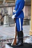 ESTOCOLMO, SUECIA - 20 DE AGOSTO DE 2016: Guardias reales suecos del hon Fotografía de archivo