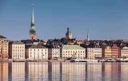 Estocolmo, Suecia Paisaje urbano de Gamla Stan fotografía de archivo