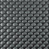 Estofamento de couro Sofa Background Sofá luxuoso preto da decoração Textura de couro preta elegante com os botões para o teste p Foto de Stock Royalty Free