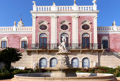 Estoi喷泉宫殿,浪漫建筑学工作  库存照片