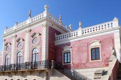 Estoi宫殿,独特浪漫建筑学的工作  免版税库存图片