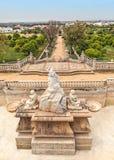 Estoi pałac ogródu wejście, Algarve, Portugalia obraz stock