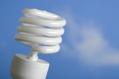 Estojo compacto fluorescente no céu Fotografia de Stock
