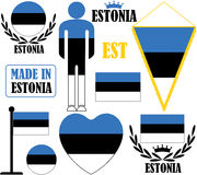 estonia stock illustrationer