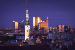 Estonia: Blue hour in Tallinn Royalty Free Stock Photo