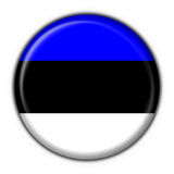 Estonia button flag round shape Stock Photography