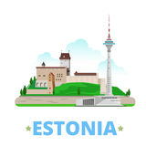 Estonia country design template Flat cartoon style Royalty Free Stock Image