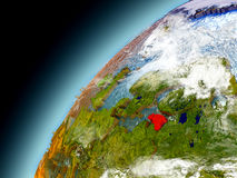 Estonia de la órbita de Earth modelo Imágenes de archivo libres de regalías