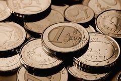 Estonia euro coins Stock Image