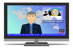 Estonia in Euro Zone 2011. 2011 News Headlines, Estonia in the euro zone stock illustration