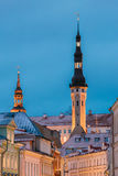 estonia Europe tutaj wiele średniowieczny teraz stary Tallinn turystów miasteczko odwiedzający Stary Średniowieczny wierza urząd  Zdjęcie Stock