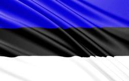 estonia flagę royalty ilustracja