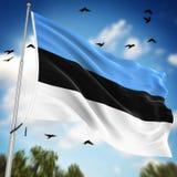 estonia flagę Obrazy Stock