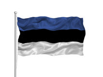 Estonia Flag 2 Stock Photography