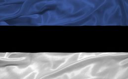 Estonia Flag 3 Royalty Free Stock Images