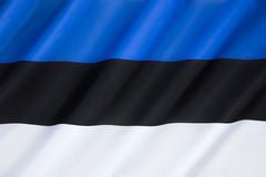 estonia flagę Obrazy Royalty Free
