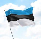 estonia flagę Zdjęcie Stock