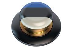 Estonia flag button Stock Image