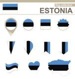 Estonia Flag Collection. 12 versions vector illustration