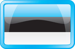 Estonia Flag Icon Stock Photography
