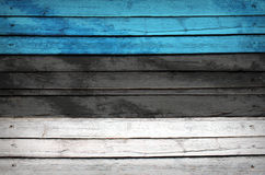 Estonia flag painted on wooden boards Royalty Free Stock Images