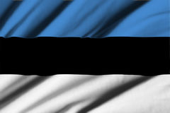 estonia flagga Royaltyfri Foto