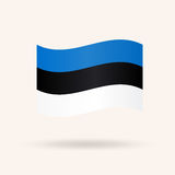 estonia flagga stock illustrationer