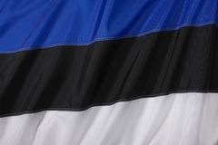 estonia flagga Arkivfoto