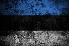 estonia flaggagrunge Arkivbild