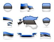 Estonia Flags Collection Stock Photography
