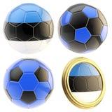 Estonia football team attributes isolated Stock Photography