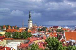 estonia gammala tallinn arkivfoton