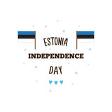 Estonia Independence Day. Vector illustration. Estonia Independence Day poster. Vector illustration. Flags Stock Images