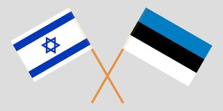Estonia and Israel. The Estonian and Israeli flags. Official proportion. Correct colors. Vector. Illustration royalty free illustration