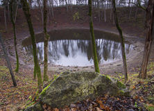 Estonia: Main Kaali crater Stock Photography