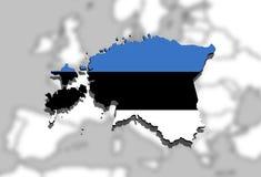 Estonia map on  Europe background Royalty Free Stock Photography