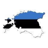 Estonia map flag Royalty Free Stock Photo