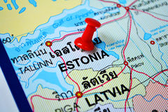 Estonia map Royalty Free Stock Photography