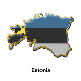 Estonia metal pin badge Stock Photo
