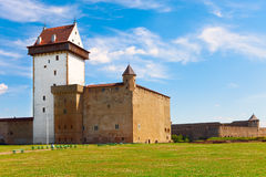 Estonia.Narva.Ancient fortress Stock Images