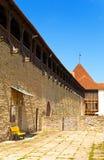 Estonia. Narva. Ancient fortress on border Stock Photos