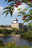 Estonia. Narva. Ancient fortress on border with Russia Royalty Free Stock Photography