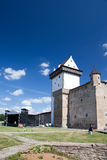 Estonia. Narva. Ancient fortress on border with Russia Stock Photo